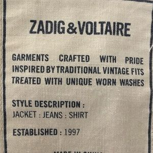Zadig and Voltaire Jacket